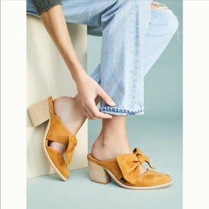 Jeffrey Campbell Cyrus suede mules, size 5